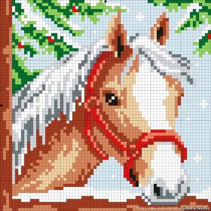 Лошадка. Вышивка крестом