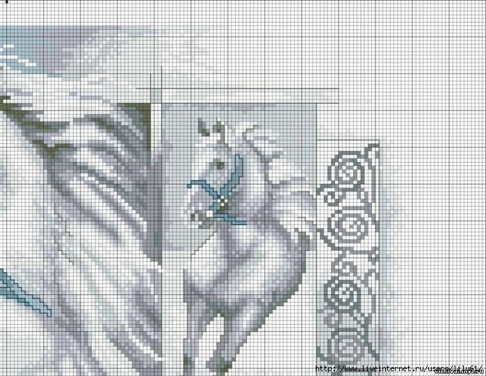 Вышивка коня скачать