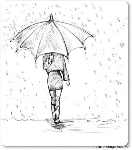 Картинки девушки под зонтом
