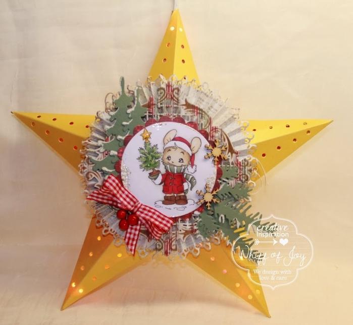Светящаяся рождественская звезда из картона своими руками (17) (700x644, 223Kb)