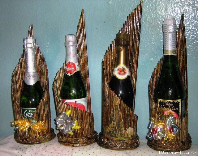 Плетение из газет. Подставки для вина и шампанского (4) (640x505, 236Kb)