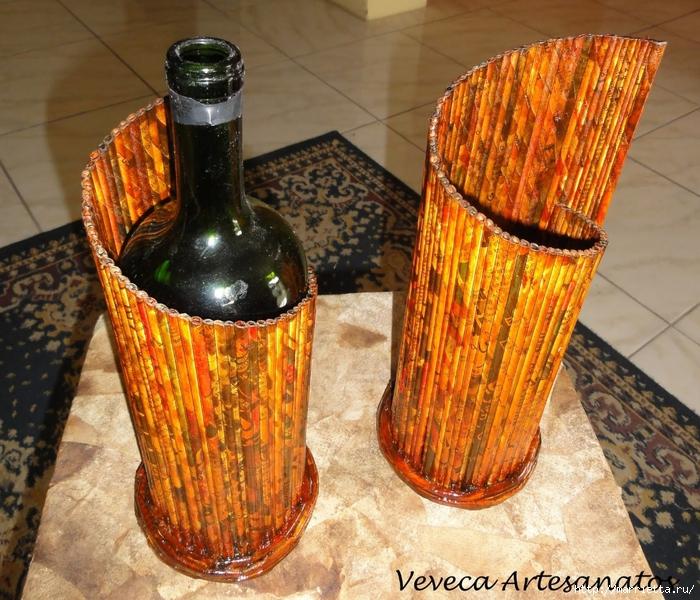 Плетение из газет. Подставки для вина и шампанского (4) (700x600, 398Kb)