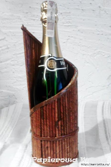 Плетение из газет. Подставки для вина и шампанского (14) (465x700, 188Kb)