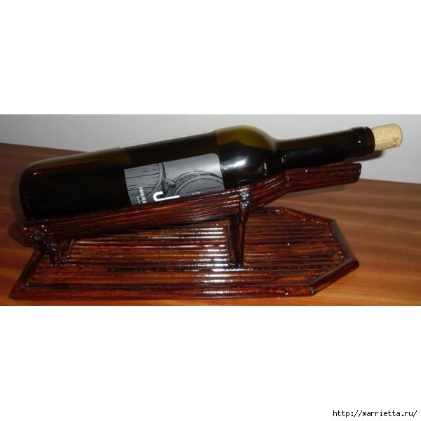 Плетение из газет. Подставки для вина и шампанского (18) (600x600, 99Kb)