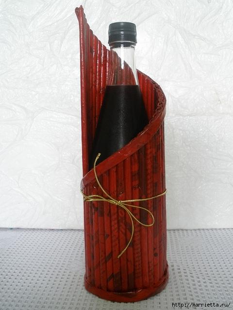 Плетение из газет. Подставки для вина и шампанского (22) (480x640, 206Kb)