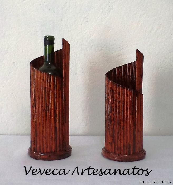 Плетение из газет. Подставки для вина и шампанского (24) (656x700, 275Kb)