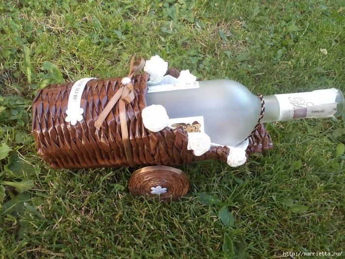 Плетение из газет. Подставки для вина и шампанского (25) (700x525, 403Kb)