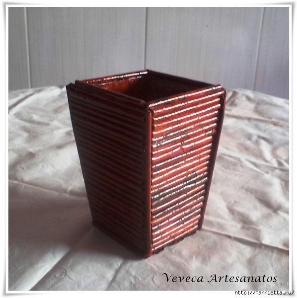 Плетение из газет. Подставки для вина и шампанского (31) (598x600, 176Kb)