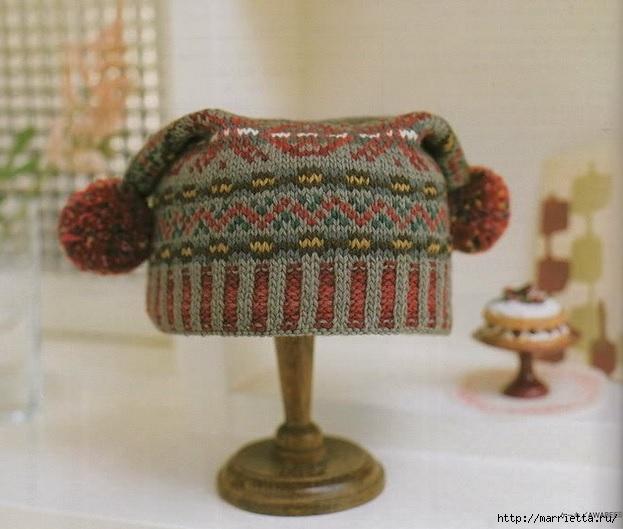 вязание спицами. шапки (1) (623x529, 170Kb)