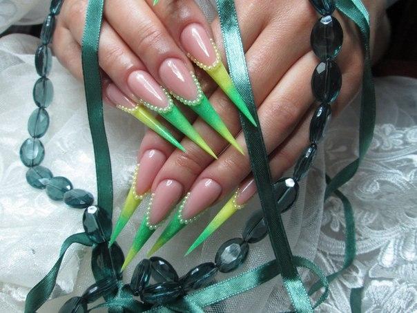 Дизайн ногтей нарощенные акрилом