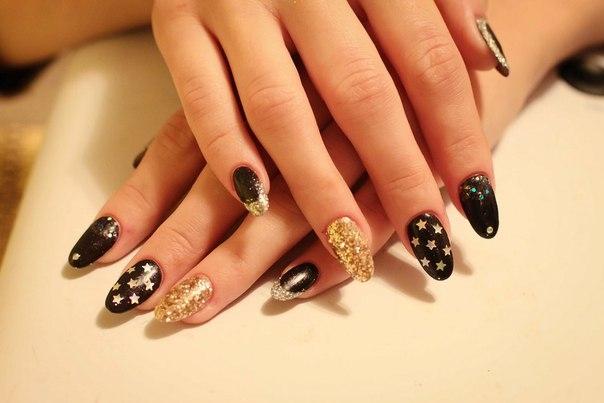Зимний дизайн ногтей нарощенных