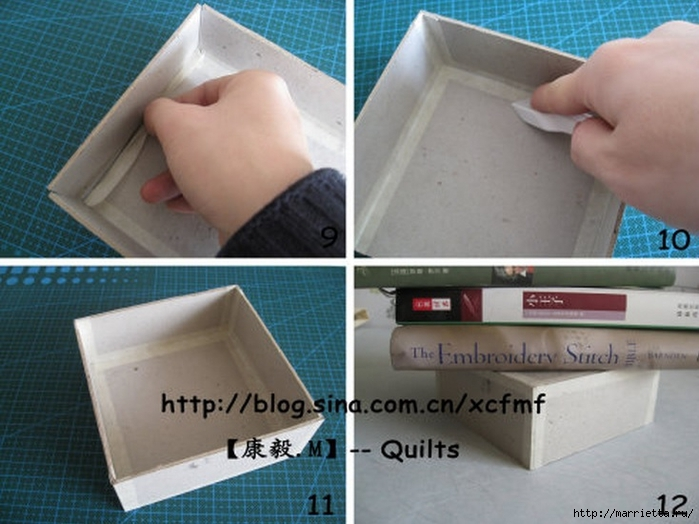Мягкая коробочка из картона и ткани своими руками. Мастер-класс (3) (700x524, 236Kb)