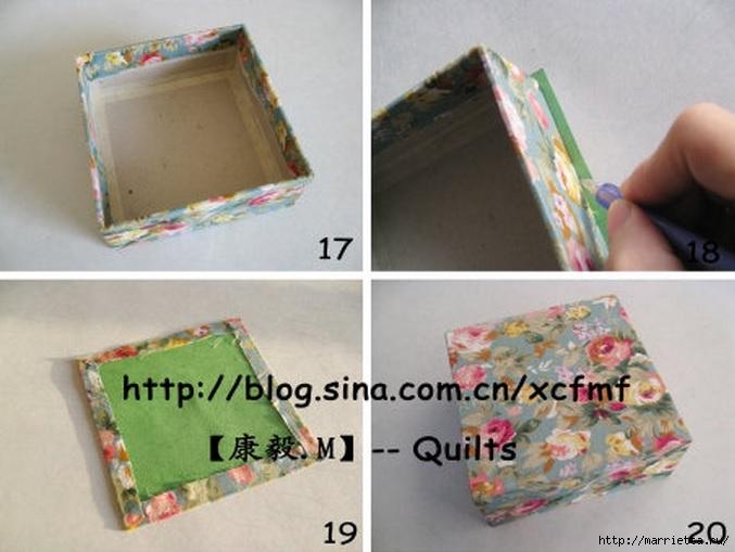 Коробочки из картона мастер классы