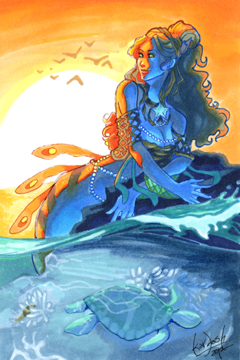 sunset_mermaid_by_skardash-d58bl87 (350x525, 217Kb)