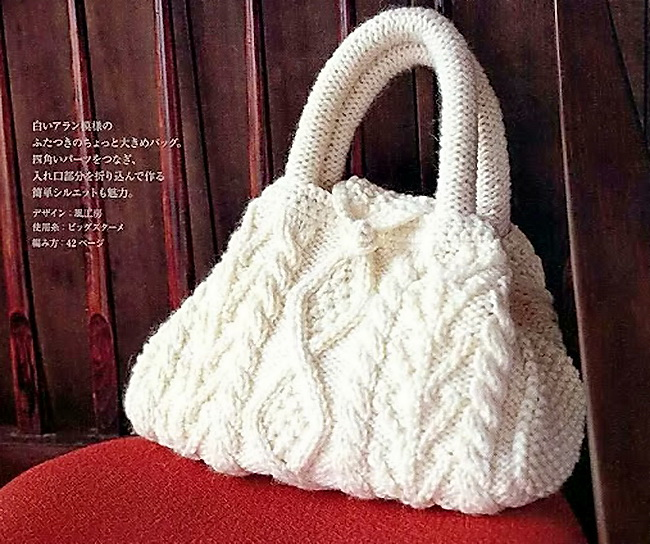 вязание сумок спицами