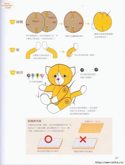 Como costurar um brinquedo de pelúcia.  Livro maravilhoso para iniciantes (55) (529x700, 153Kb)