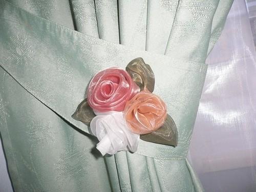 Как сшить цветы из штор 808