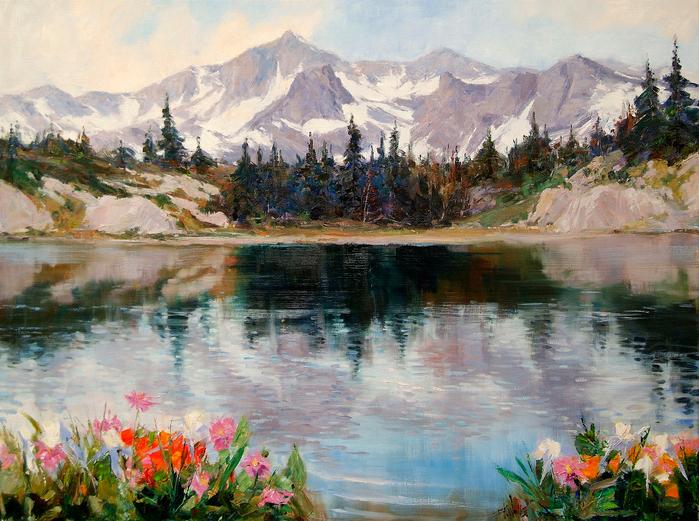 26926303_1_Eric_Wallis__High_Mountain_Lake30x40 (699x521, 601Kb)
