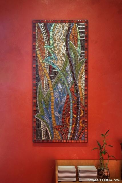 Мозаичное панно на стене своими руками