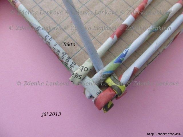 Плетение из газет. Навесная корзинка КАШПО. Мастер-класс (34) (640x480, 122Kb)