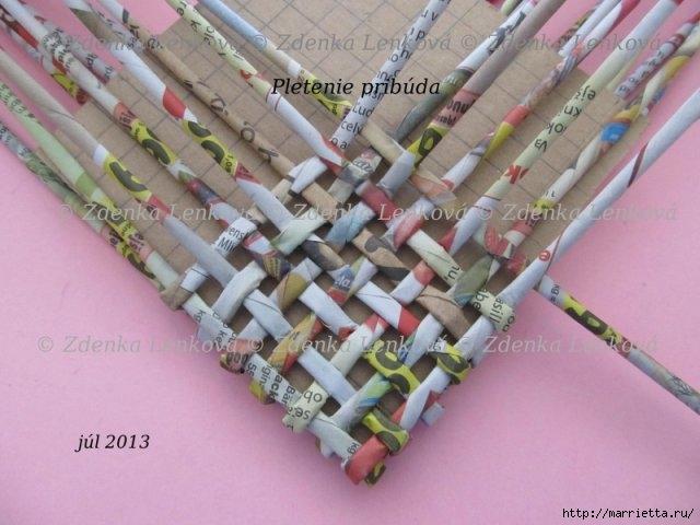Плетение из газет. Навесная корзинка КАШПО. Мастер-класс (39) (640x480, 158Kb)
