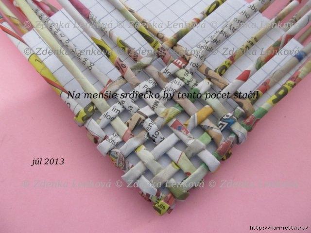Плетение из газет. Навесная корзинка КАШПО. Мастер-класс (40) (640x480, 153Kb)