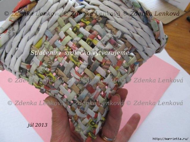 Плетение из газет. Навесная корзинка КАШПО. Мастер-класс (52) (640x480, 167Kb)