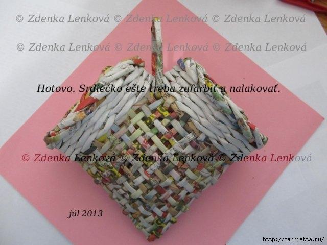 Плетение из газет. Навесная корзинка КАШПО. Мастер-класс (55) (640x480, 142Kb)