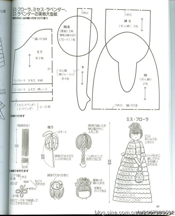сшить куклу журнал с выкройками (49) (568x700, 197Kb)