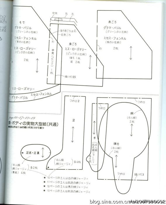 сшить куклу журнал с выкройками (55) (568x700, 179Kb)