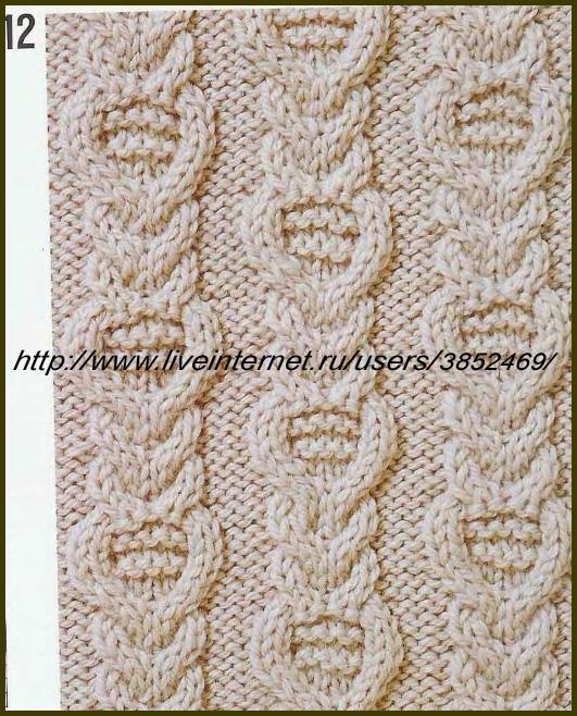 узор жгут вязание спицами
