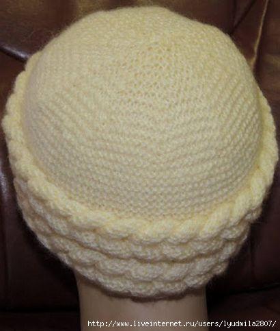 Схема вязания шапочки цельным