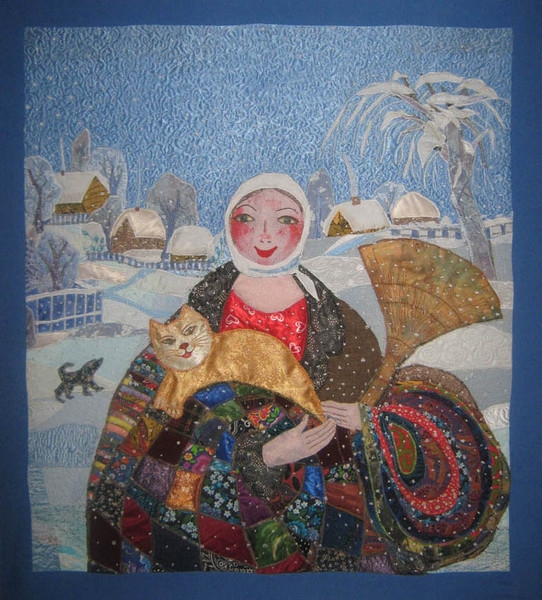 зима по картине Величко (542x600, 276Kb)