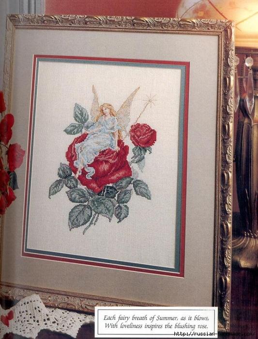 Примеры красивой винтажной вышивки. Журнал со схемами (19) (533x699, 327Kb)