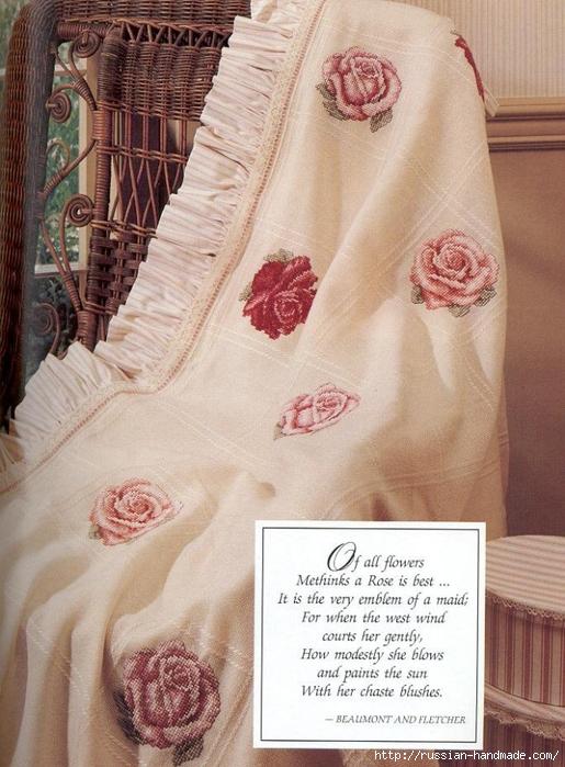 Примеры красивой винтажной вышивки. Журнал со схемами (25) (515x699, 299Kb)