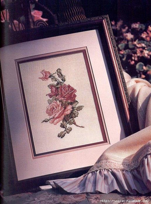 Примеры красивой винтажной вышивки. Журнал со схемами (27) (517x699, 286Kb)