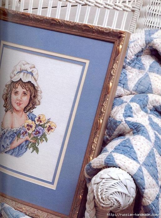 Примеры красивой винтажной вышивки. Журнал со схемами (35) (517x700, 329Kb)