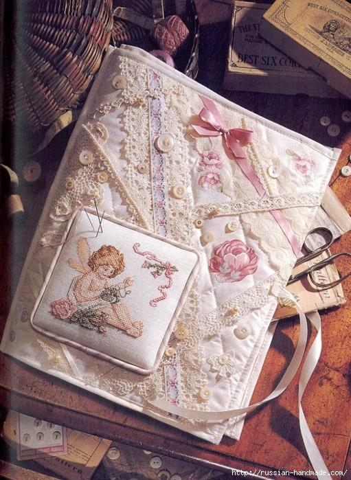 Примеры красивой винтажной вышивки. Журнал со схемами (43) (511x699, 366Kb)