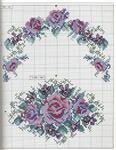 Превью Примеры красивой винтажной вышивки. Журнал со схемами (49) (542x699, 408Kb)