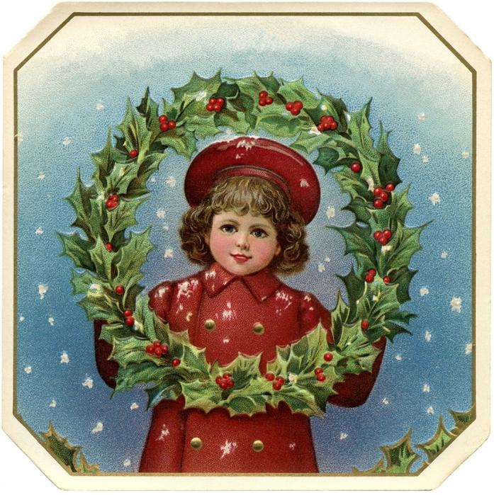 Нотные винтажные рождественские украшения (25) (697x700, 438Kb)