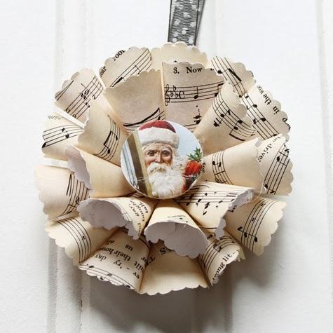 Нотные винтажные рождественские украшения (31) (475x475, 127Kb)