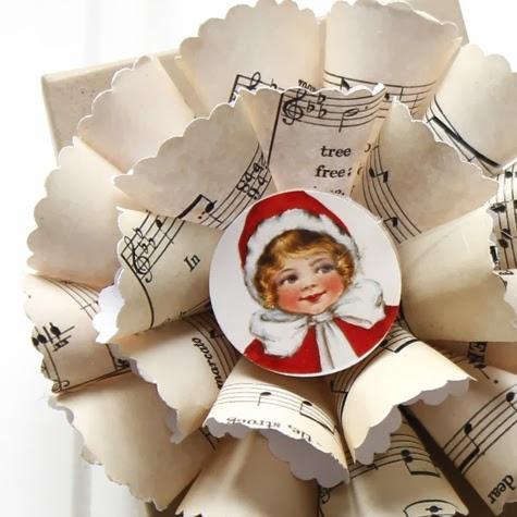 Нотные винтажные рождественские украшения (33) (475x475, 128Kb)