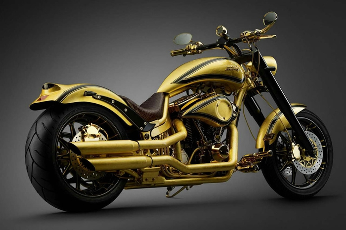 золотой мотоцикл Lauge Jensen фото (700x466, 182Kb)