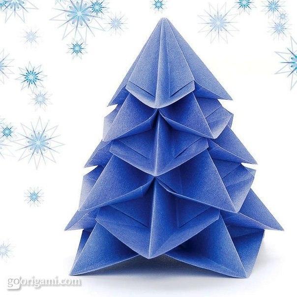 елочка оригами 1 (604x604, 244Kb)