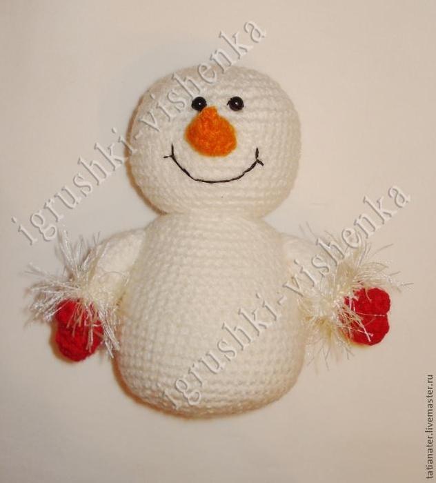 снеговик крючком (10) (632x700
