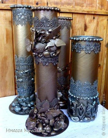 Напольные вазы своими руками из бросового материала