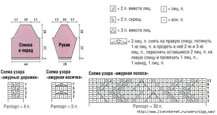 Вязание спицами с описанием сверху 373