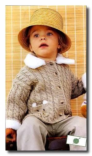 Схема летнего вязанного костюма для мальчика 2 года - Фасон.