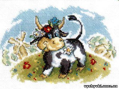 Корова на лугу (400x300, 137Kb)