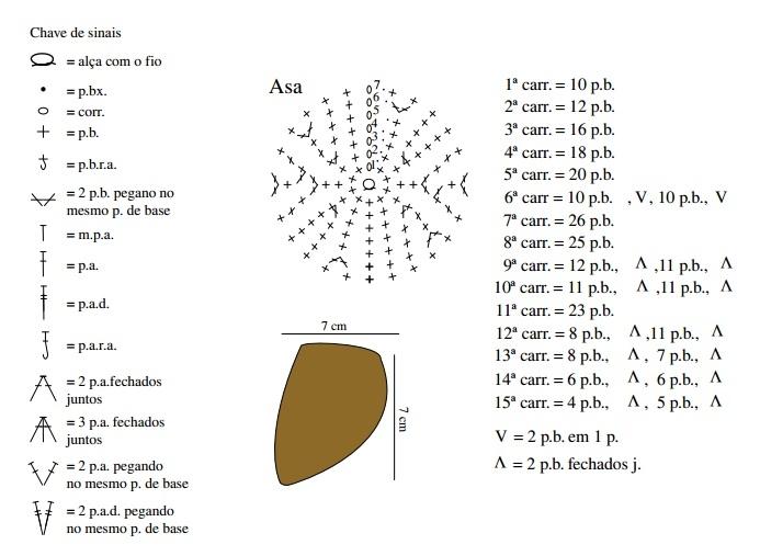 Схема вязания объемной совы крючком 95